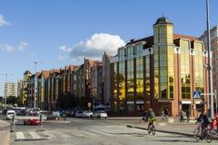 Bâtiments résidentiels modernes à Danzig poland photographie stock libre de droits