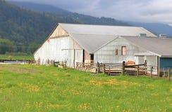 Bâtiments ruraux simples de ferme photographie stock