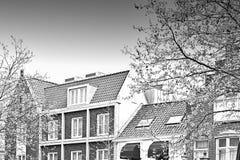 Bâtiments traditionnels dans la ville d'Amersfoort Image stock