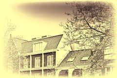 Bâtiments traditionnels dans la ville d'Amersfoort Photos stock