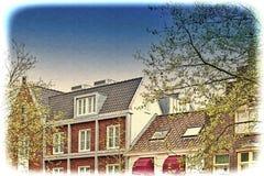 Bâtiments traditionnels dans la ville d'Amersfoort Images stock