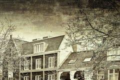 Bâtiments traditionnels dans la ville d'Amersfoort Photographie stock