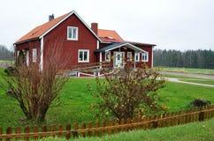 Bâtiments traditionnels en Suède, l'Europe Image stock