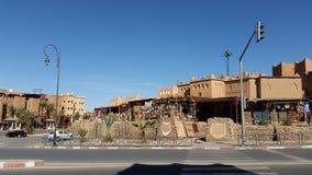 Bâtiments traditionnels, ville d'ouarzazate, Maroc photos stock