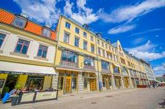 Bâtiments typiques à Gothenburg du centre Photos stock