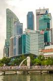 Bâtiments urbains modernes d'horizon de Singapour photo libre de droits