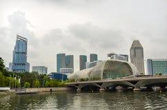 Bâtiments urbains modernes d'horizon de Singapour photo stock