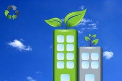Bâtiments verts Images libres de droits