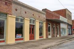 Bâtiments victoriens de style en Elgin Texas images stock