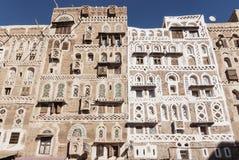 Bâtiments yéménites traditionnels dans la vieille ville Yémen de sanaa Photo libre de droits