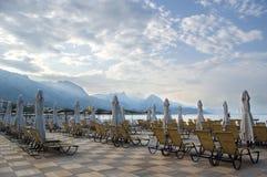 Bâtis de plage dans la place de paradis Image libre de droits