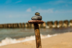 Bâton avec des pierres Photos stock