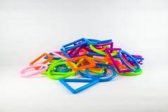 Bâton coloré de plastique d'assemblée Photographie stock