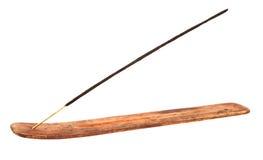 Bâton d'encens dans le support en bois Photographie stock libre de droits