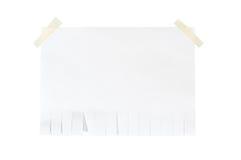 Bâton d'isolement de papier blanc sur le blanc Photos libres de droits