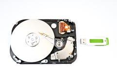 Bâton d'unité de disque dur et d'usb Image stock