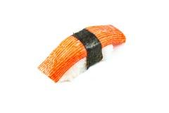 Bâton de crabe de sushi (nigiri de Kani) Image libre de droits