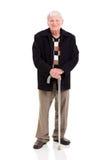 Bâton de marche plus âgé d'homme image libre de droits