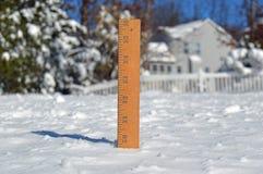 Bâton de mesure de neige Images libres de droits