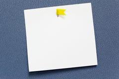 Bâton de papier vide blanc de note Photographie stock libre de droits