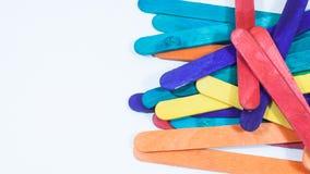 Bâton en bois beaucoup de couleurs Photos libres de droits