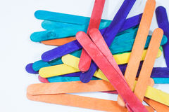 Bâton en bois beaucoup de couleurs Photo stock