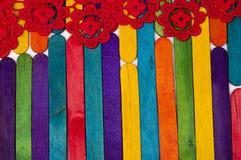Bâton en bois coloré de glace Photographie stock