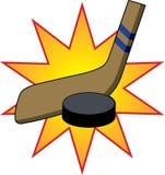 Bâton et galet d'hockey Photographie stock libre de droits