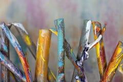 Bâtons colorés Photos libres de droits