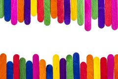 Bâtons colorés de crème glacée  Photo stock