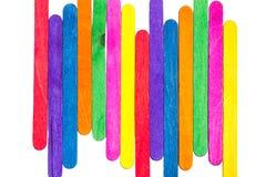 Bâtons colorés multiples de crème glacée  Photo libre de droits