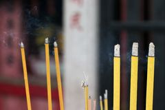 Bâtons d'encens, Macao photographie stock libre de droits