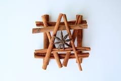 Bâtons de cannelle et étoiles aromatiques d'anis Images libres de droits
