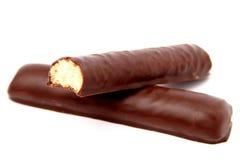 Bâtons de chocolat avec un bourrage de vanille Images stock