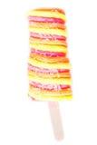Bâtons de crème glacée de fruit d'isolement sur le fond blanc Glaces à l'eau s Photographie stock libre de droits
