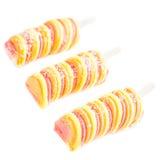 Bâtons de crème glacée de fruit d'isolement sur le fond blanc Glaces à l'eau s Image stock