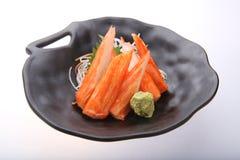 Bâtons de crabe avec le wasabi Photographie stock