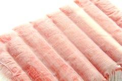 Bâtons de crabe d'aliments surgelés images libres de droits