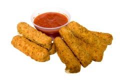 Bâtons de mozzarella Image libre de droits