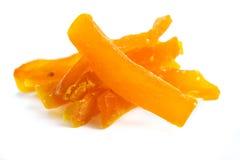 Bâtons de papaye secs par bonbon Photo stock