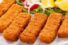 Bâtons de poisson frits Photographie stock libre de droits