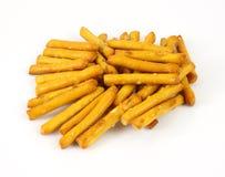 Bâtons de pretzel classés par dégagement Photographie stock