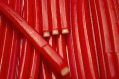 Bâtons de sucrerie assaisonnés par fraise Photographie stock libre de droits