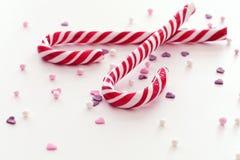 Bâtons de sucrerie de Noël Photographie stock libre de droits