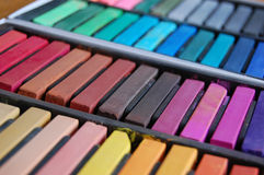 Bâtons en pastel mous Photos stock