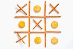 Bâtons et biscuits salés Image libre de droits
