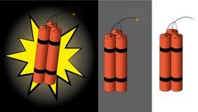 Bâtons explosifs avec la corde de fusible Photo libre de droits