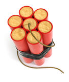 Bâtons explosifs de dynamite illustration stock