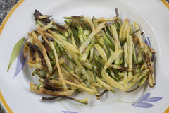 Bâtons frits de courgette photo stock