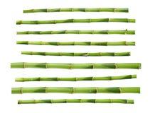 bâtons verts en bambou illustration de vecteur